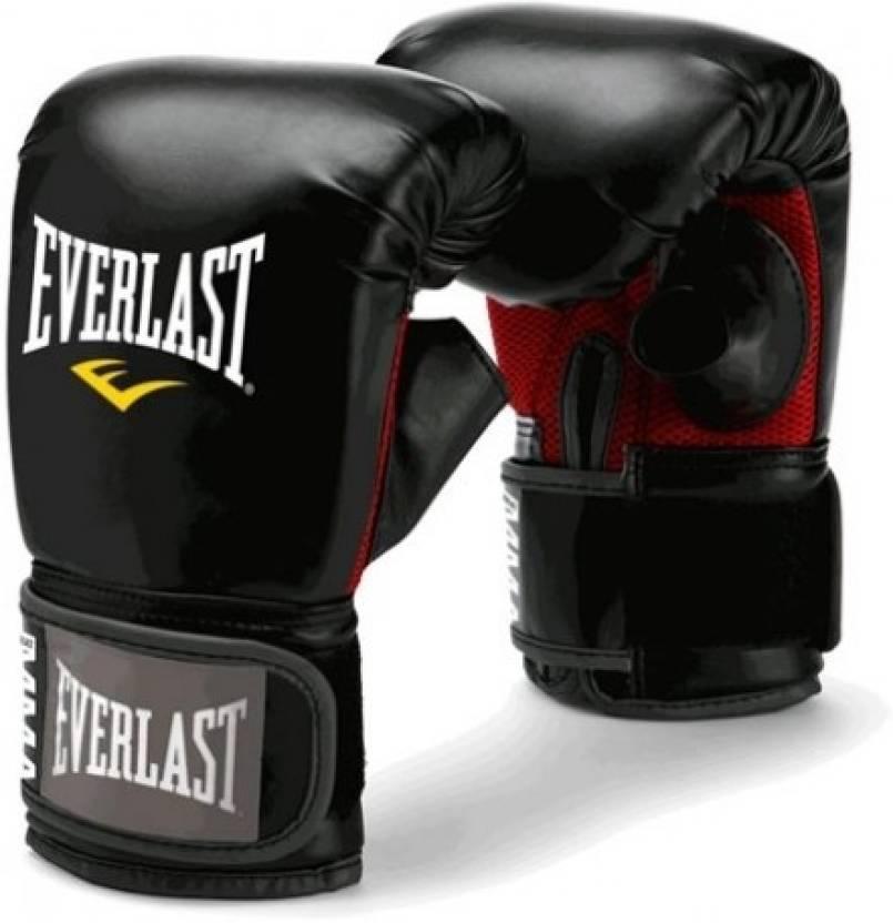 Shiv Naresh Teens Boxing Gloves 12oz: Everlast Mma Heavy Bag Boxing Gloves (L, Black)