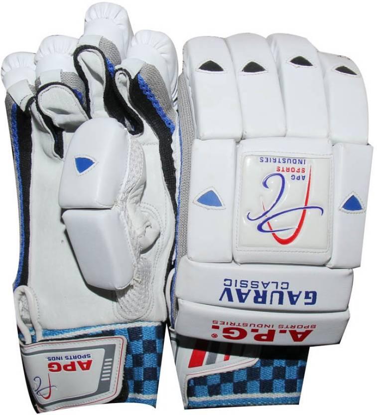 APG GauravClasic Batting Gloves (M, White)