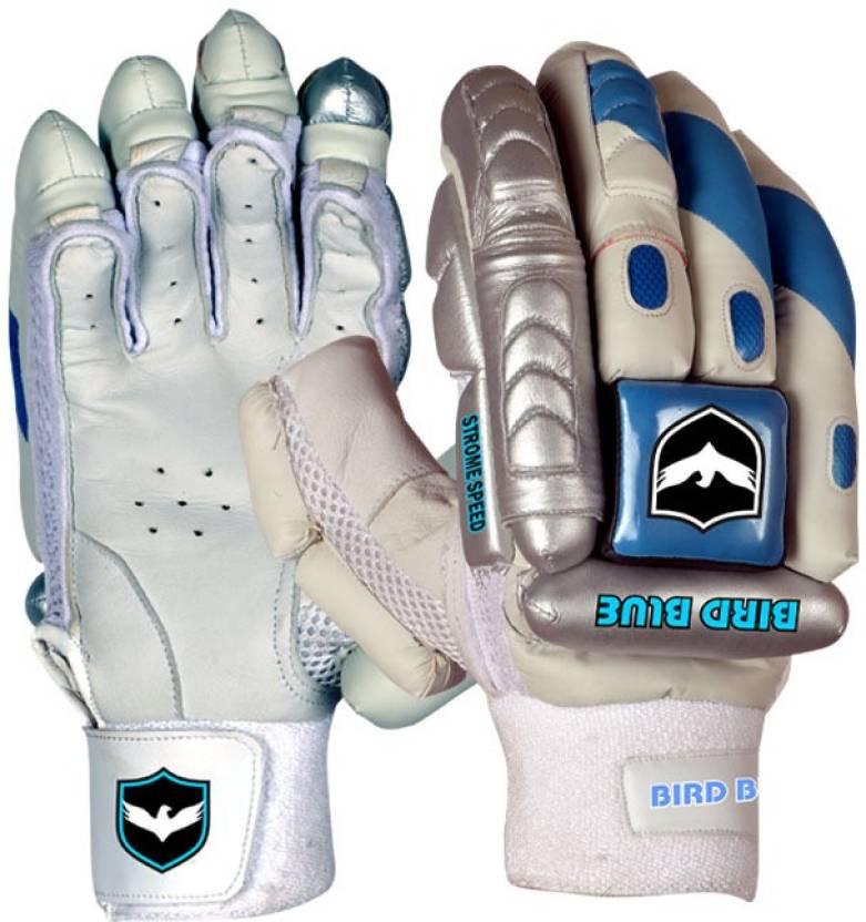 Birdblue Speed Strome Batting Gloves (Men, White, Blue)