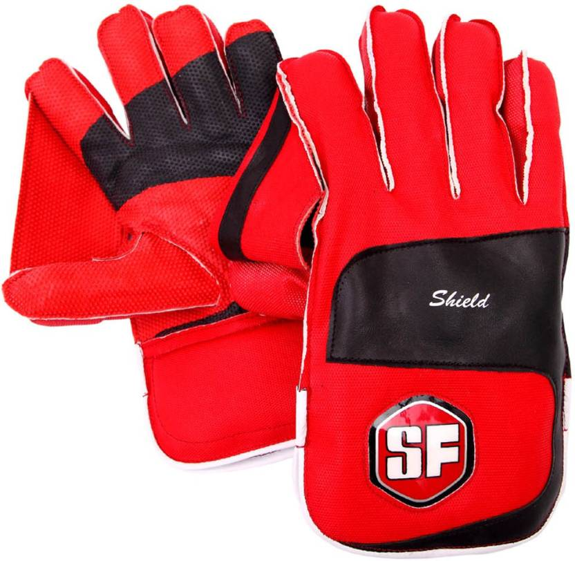 SF Shield Wicket Keeping Gloves (Men, Multicolor)