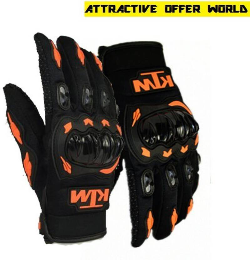 AOW ATTRACTIVE OFFER WORLD KTM-L-E107 Cycling Gloves (L, Black