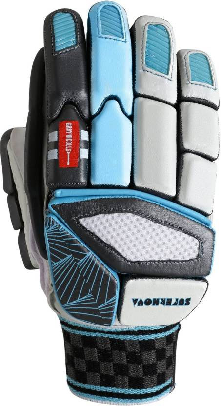 Gray Nicolls Supernova GN9 Batting Gloves (Men, White, Blue, Grey...