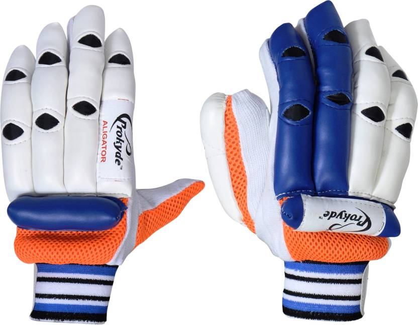Prokyde Aligator Batting Gloves (S, White, Blue)
