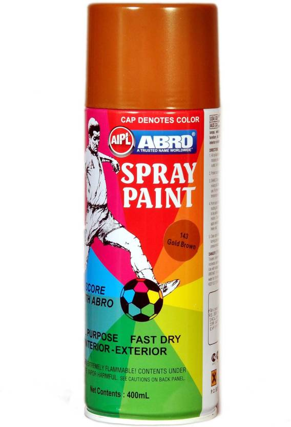 Abro Premium Gold Brown Spray Paint 400 Ml Pack Of 1