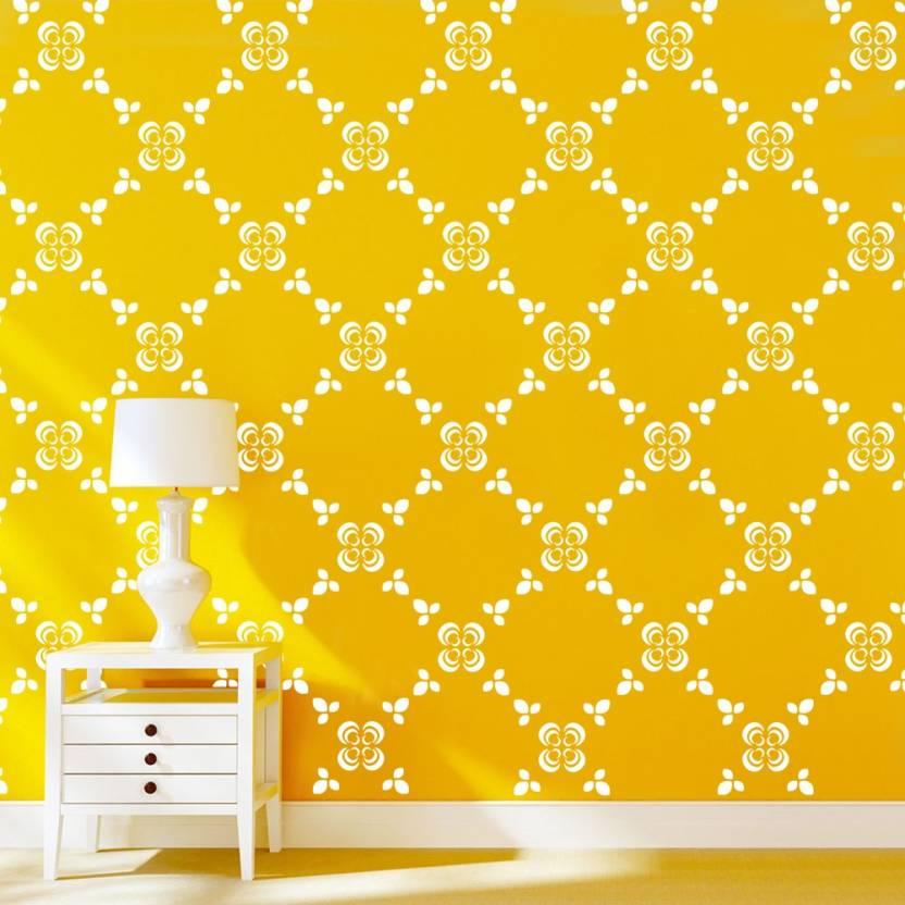 Arhat Stencils DAMASK ASR-E103 GLOSSY DAMASK PVC (Wall Décor & Art ...