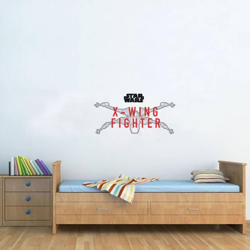 disney large x-wing fighter digital printed pvc vinyl sticker price