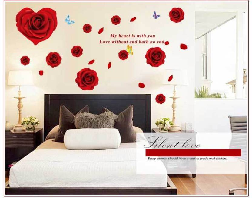 Oren Empower Red Rose Wall Sticker For Home Decoration Price In