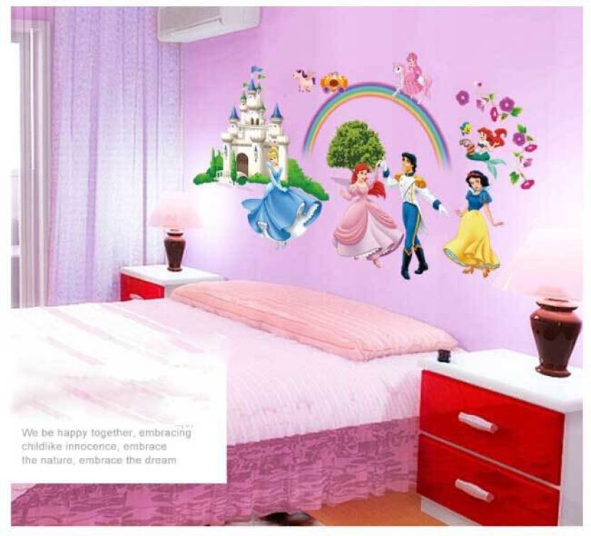 oren empower new design of cute princess wall sticker price in india