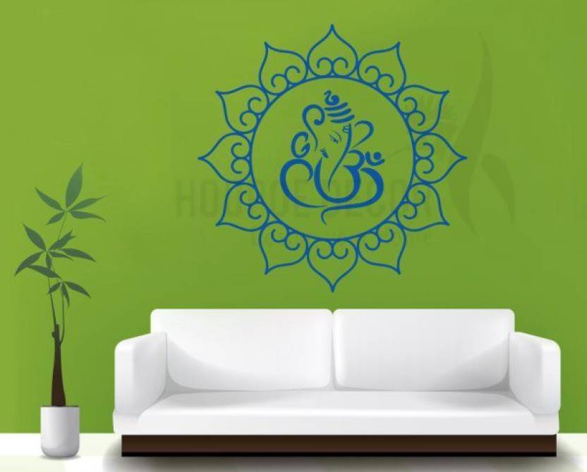 211fb433f9 Hoopoe Decor Medium Lord Ganesha with Om Sticker Price in India ...