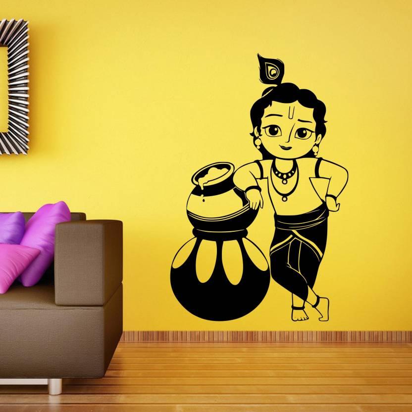 Stickkart Medium Bal Krishna Wall Sticker Price in India - Buy ...