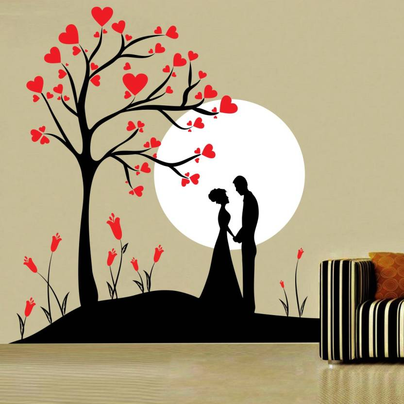 Decor Kafe Small Wall Sticker For Bedroom Sticker
