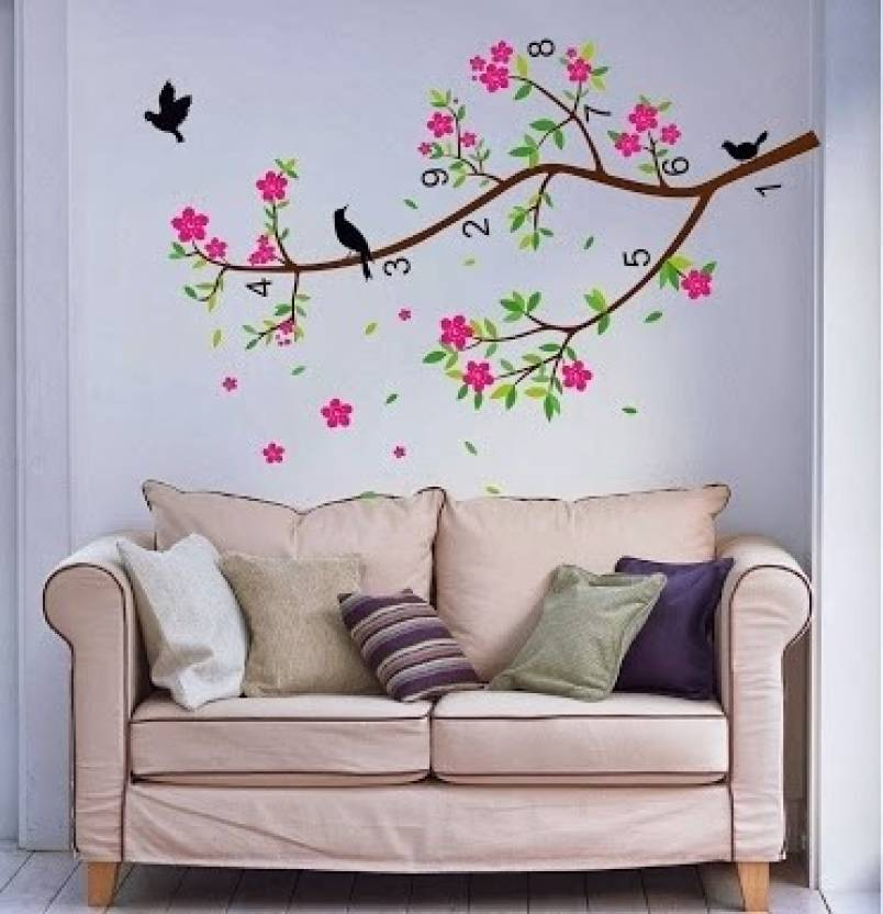 Wall Decor On Flipkart : Wow wall stickers pvc removable sticker price in india