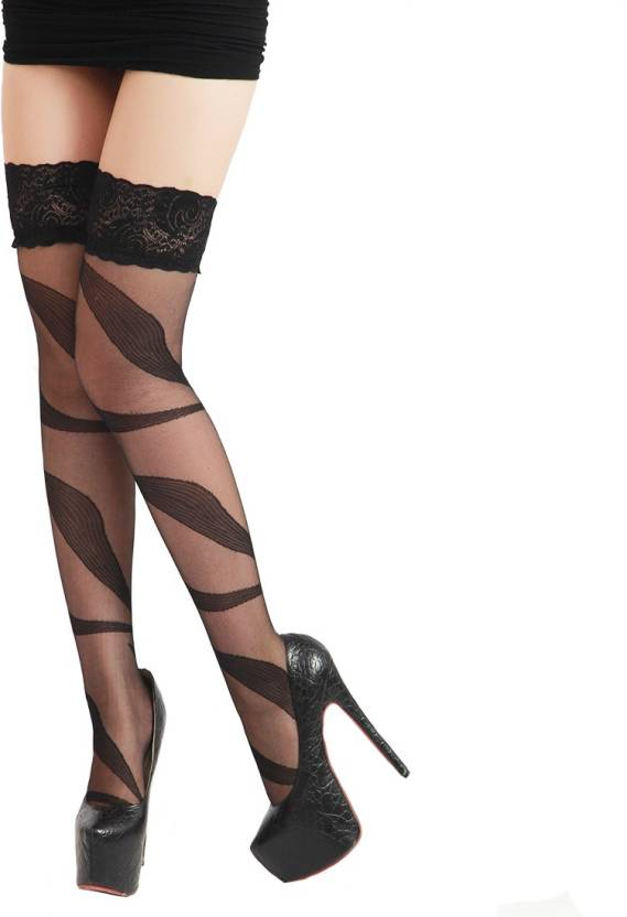 22b7ac0f3e2 Aliza Women s Fishnet Stockings - Buy Black Aliza Women s Fishnet Stockings  Online at Best Prices in India