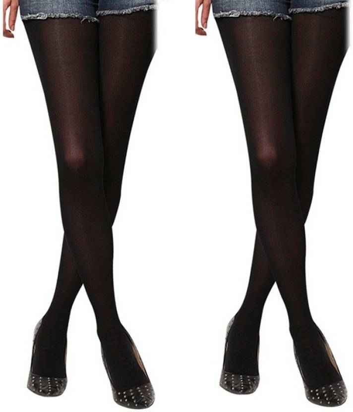 0518d056049 Cotson Women s Opaque Stockings - Buy Black Cotson Women s Opaque Stockings  Online at Best Prices in India