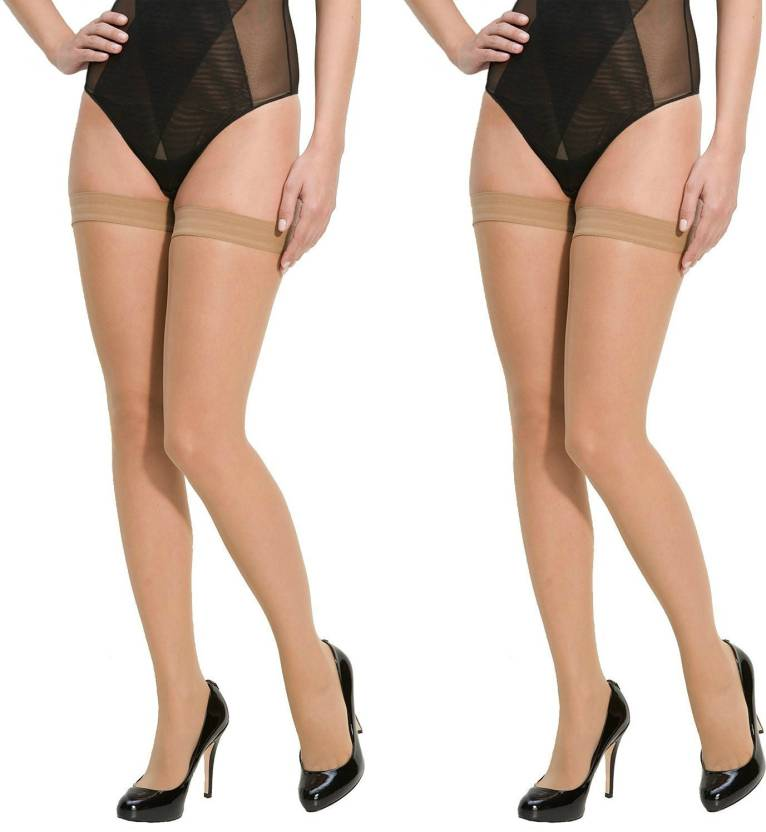 6c06f728fd588 Lady Heart Women's Sheer Stockings - Buy BEIGE / SKIN / NUDE Lady Heart  Women's Sheer Stockings Online at Best Prices in India | Flipkart.com