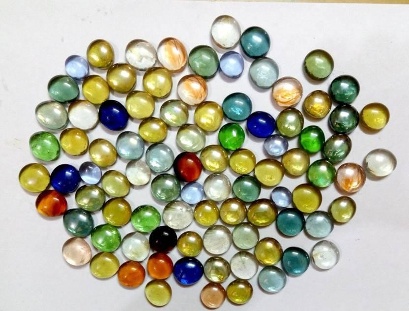 Rm Multicolor Decorative Glass Pebbles Pack Contains 80 Pebbles