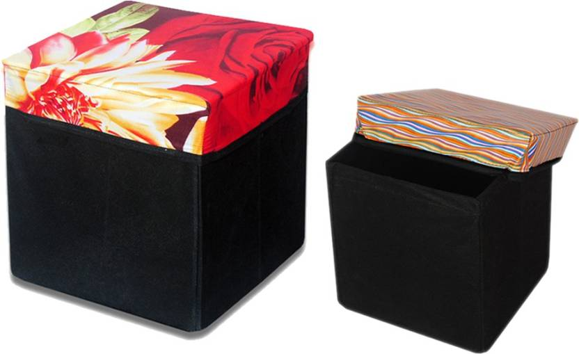 Christy's Collection Big And Small Storage (Set Of 2) Design 13 Outdoor & Cafeteria Stool