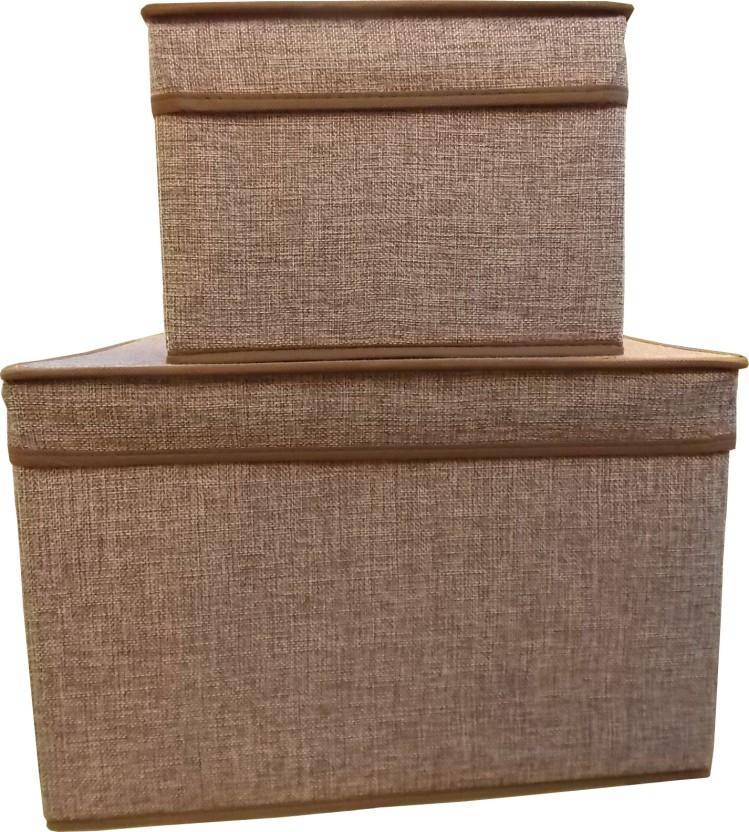SG FOLDABLE STORAGE JUTE BOX 5129D Storage Box  sc 1 st  Flipkart & SG FOLDABLE STORAGE JUTE BOX 5129D Storage Box Price in India - Buy ...