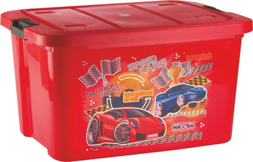 nayasa toy box big delux red storage box - Toy Storage Boxes