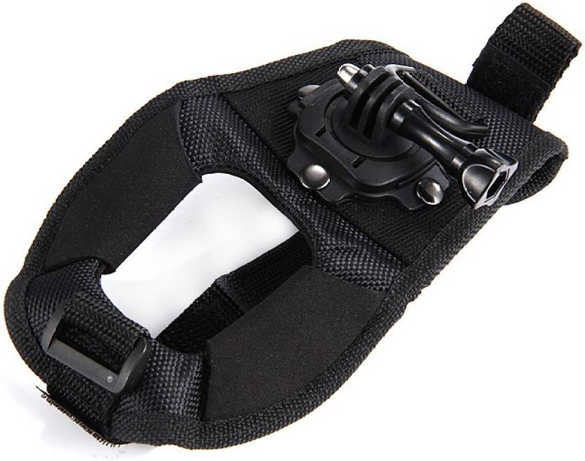 Power Smart 360 Degree Rotation GoPro Hand Camera Wrist Belt Band Holder Mount For Hero2 Hero3 Hero4 Series Strap Black