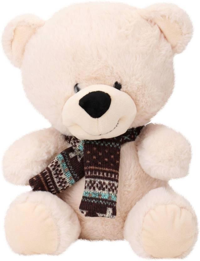 Starwalk Bear Plush Beige Color with Muffler 29 cm  - 29 cm