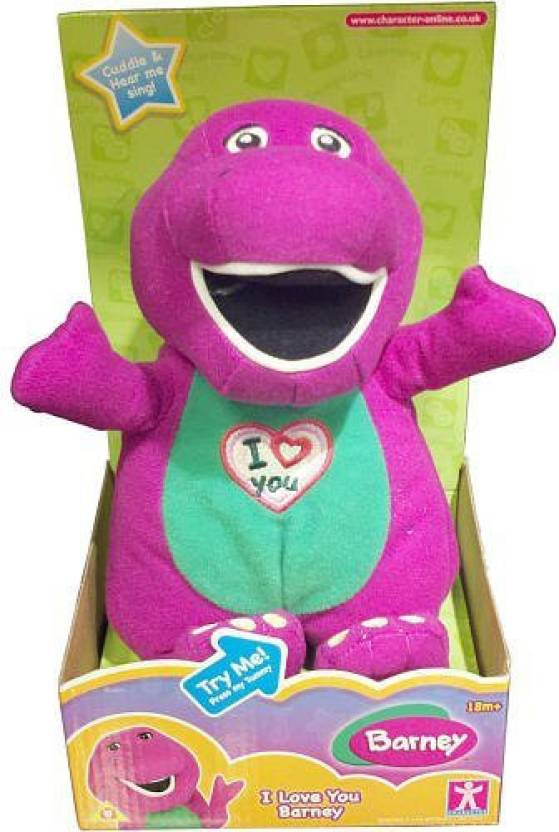 Toy Island I Love You Barney Plush - 70 cm - I Love You Barney Plush