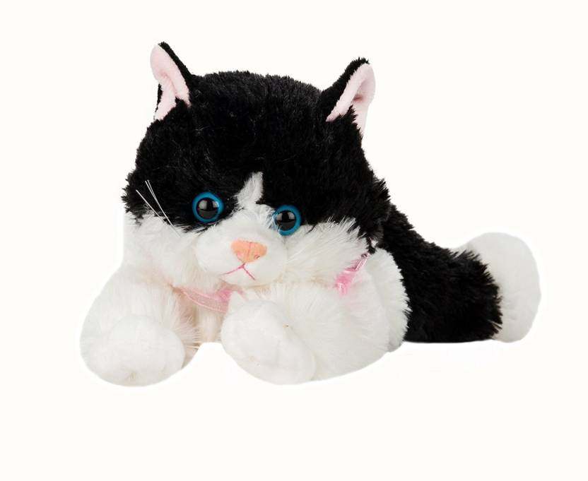 Toynjoy Cute Soft Black White Cat Stuffed Toy 30 Cm Cute Soft