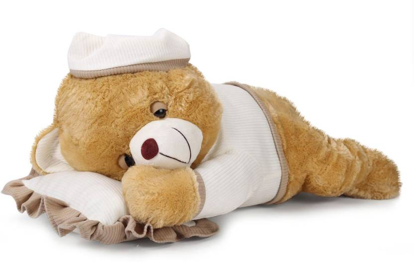 Starwalk Sleeping Bear Plush Beige Color  - 56 cm