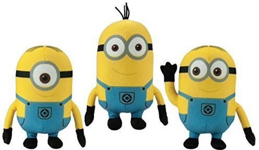 Despicable Me 2 The Minions 6 Inch Plush   Stuart, Kevin, And Bob