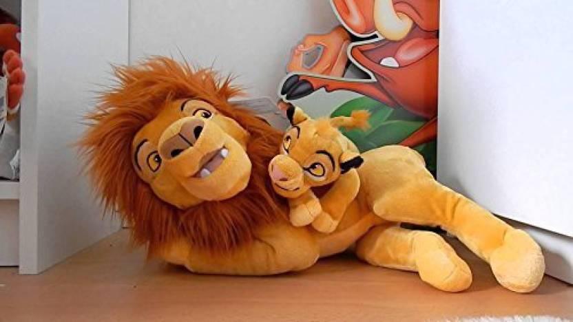 Disney Parks Lion King Mufasa And Ba Simba 15 Inch Plush Doll New
