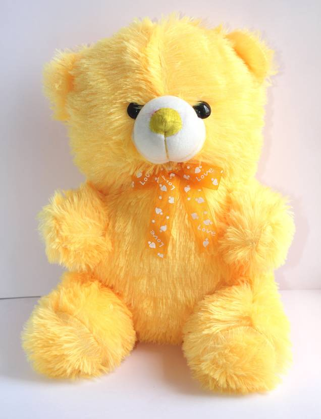 cuddles collections lovely looking cute teddy bear yellow 40 cm