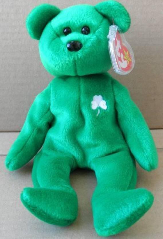 8c834465b1e Unknown 1 X Ty Beanie Babies Erin The Irish Bear Plush Animal - 13 inch  (Green)