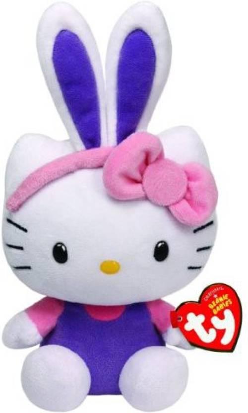 TY Beanie Babies Hello KitWith Purple Ears Plush - Hello KitWith ... c56354b584f6