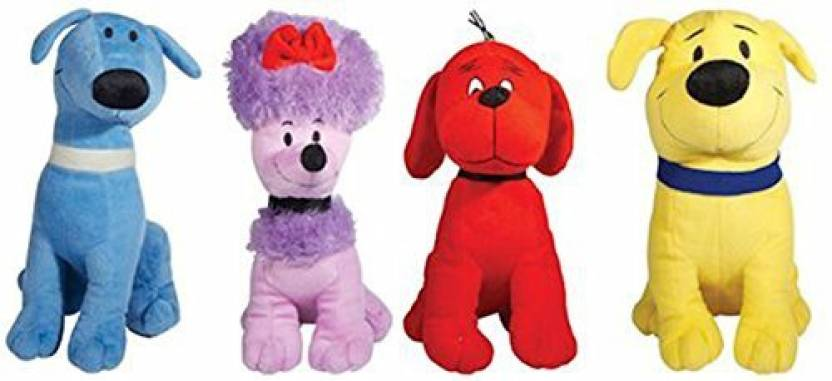 Miraculous Clifford The Big Red Dog Set Of 4 Plush Includes Cleomacand Machost Co Dining Chair Design Ideas Machostcouk