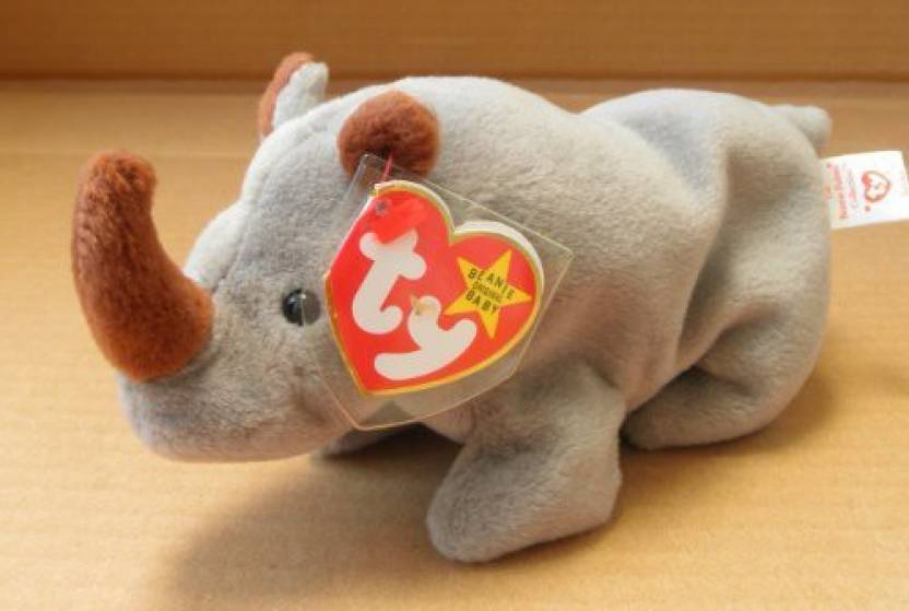 e4b959debda TY Beanie Babies Spike The Rhino Animal Plush 8 Inches Long - Spike ...