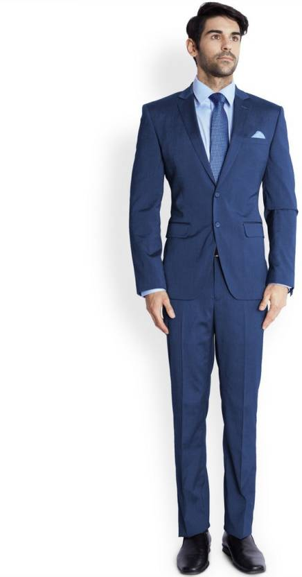 99fc6cb76c1 Park Avenue Single Breasted Solid Men s Suit - Buy Blue Park Avenue Single  Breasted Solid Men s Suit Online at Best Prices in India