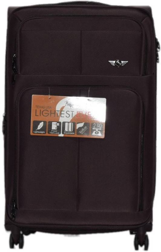88f89506876 Texas USA 4 Wheel Trolley Bag 1 Expandable Check-in Luggage - 28 inch  (Brown)