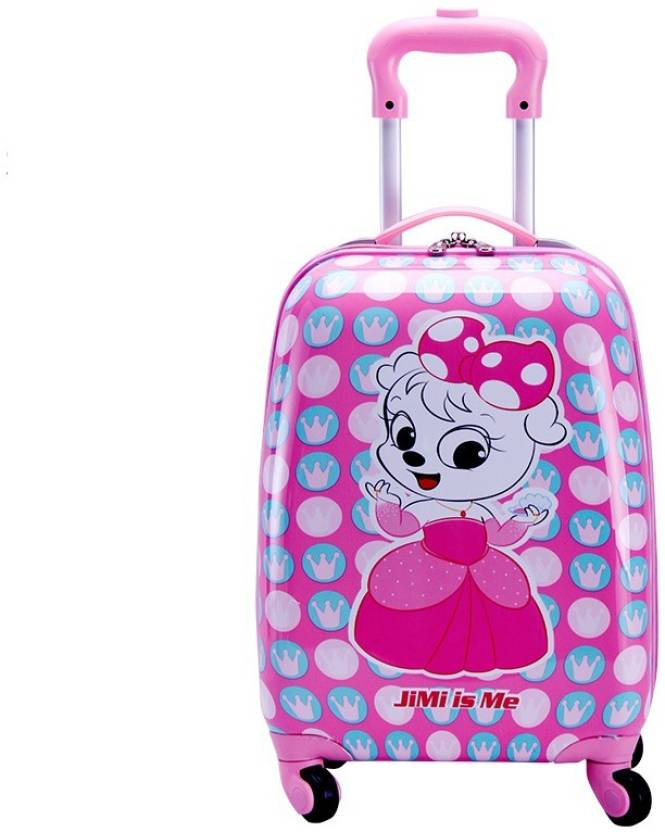 eae6979a17 T-Bags My Katty 4 Wheel Pink Trolley Bag 18 Inch Cabin Luggage - 18 inch ( Pink)