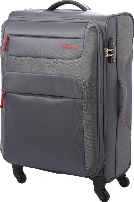 american tourister ski expandable cabin luggage 21 inches grey price in india. Black Bedroom Furniture Sets. Home Design Ideas