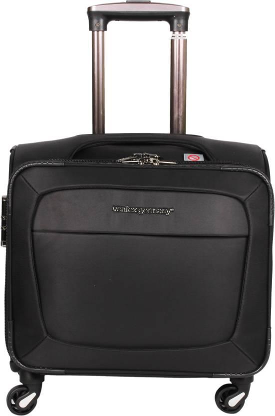 b7c45209ad18 Ventex Waterproof Overnighter Trolley Cabin Luggage - 17 inch Black ...