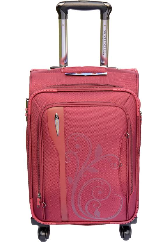 546c5ded6 Swiss Rider Glamour Expandable Check-in Luggage - 24 inch Red ...
