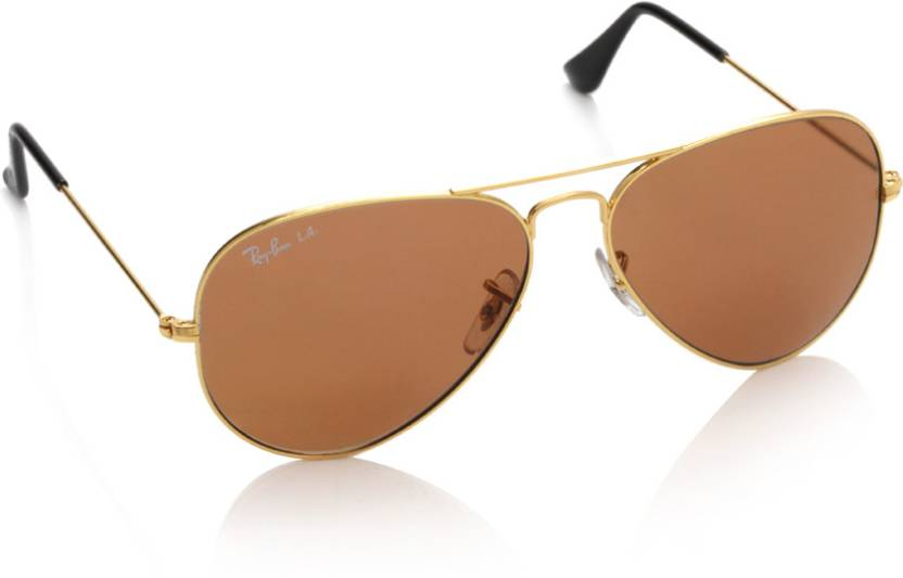 edf1a51c2a Buy Ray-Ban Aviator Sunglasses Brown For Men Online   Best Prices in ...
