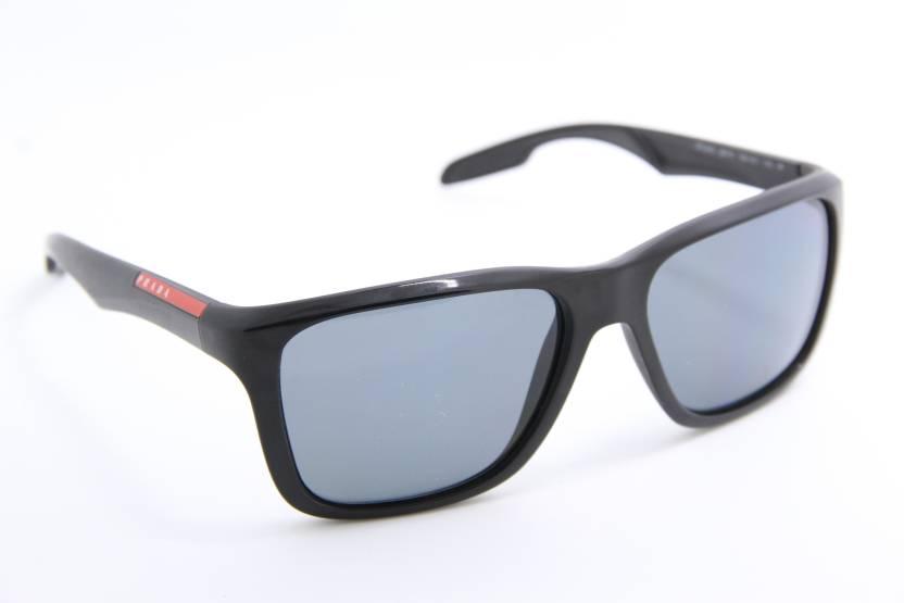 8b177009e32 Buy Prada Wayfarer Sunglasses Grey For Men Online   Best Prices in ...