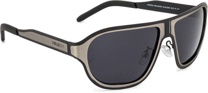 4ae885c1a5 Buy Velocity Round Sunglasses Black For Men Online   Best Prices in ...