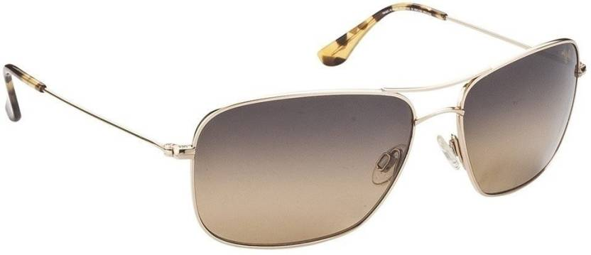 f3bb19c854822 Buy Maui Jim Aviator Sunglasses Brown For Men   Women Online   Best ...