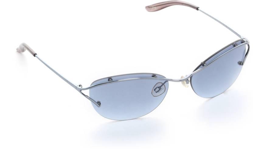 2e6841b8d2a Buy Celine Dion Oval Sunglasses Blue For Women Online   Best Prices ...