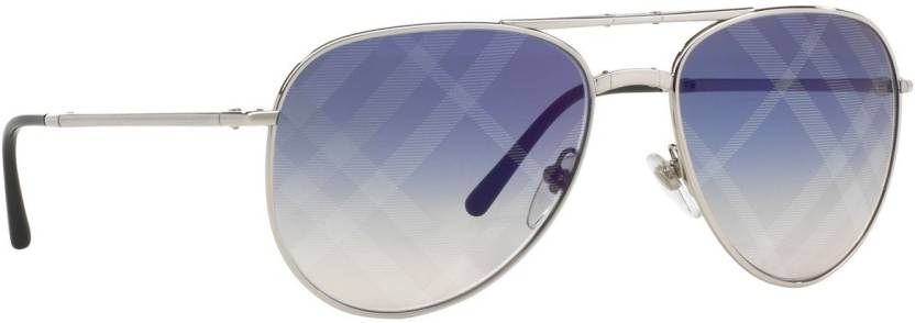 1b3704be1f3 Buy Burberry Aviator Sunglasses Blue For Men Online   Best Prices in ...
