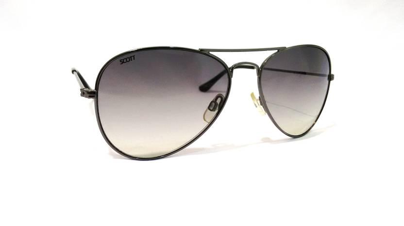 68203123e9 Buy Scott Aviator Sunglasses Grey For Men Online   Best Prices in ...