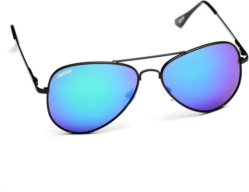 15293dc9fb9 Buy Rapstar Aviator Sunglasses Green For Men Online   Best Prices in ...