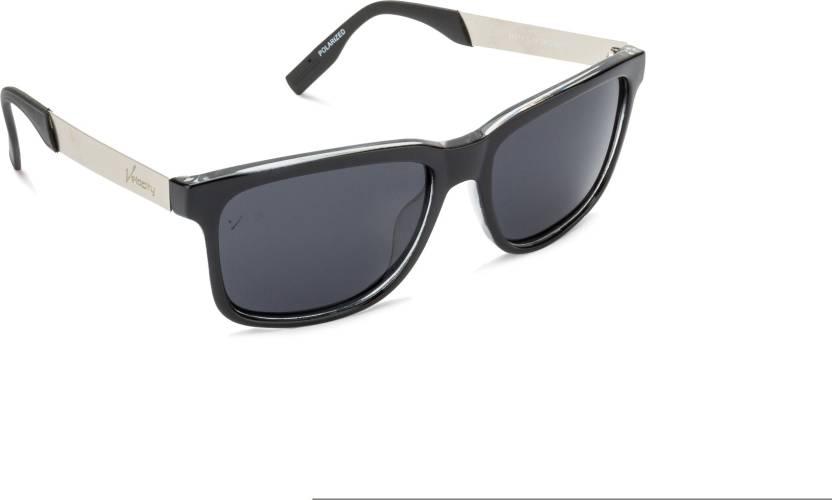 2097c4500e0 Buy Velocity Wayfarer Sunglasses Grey For Men Online   Best Prices ...